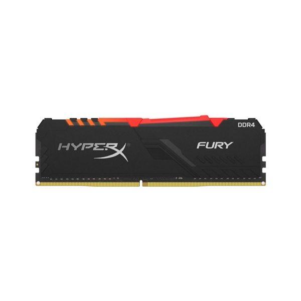 Memória RAM Kingston 16GB HyperX Fury RGB DDR4 3733Mhz PC4-29800 CL19 Black - HX437C19FB3A/16