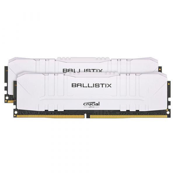 Memória RAM Crucial Ballistix 16GB DDR4 2x8GB 3600 CL16 Branco - BL2K8G36C16U4W