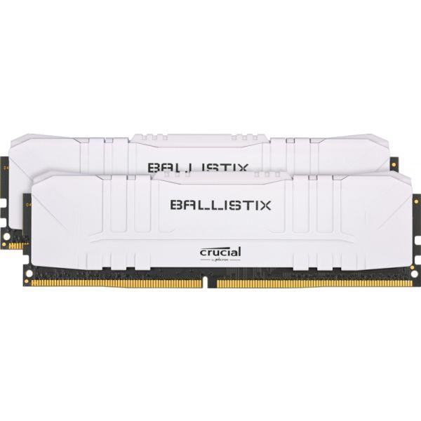 Memória RAM Crucial Ballistix 16GB DDR4 2x8GB 3200 CL16 Branco - BL2K8G32C16U4W