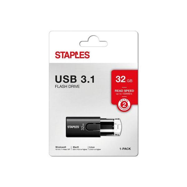 Staples 32GB USB 3.1 Black - 147891