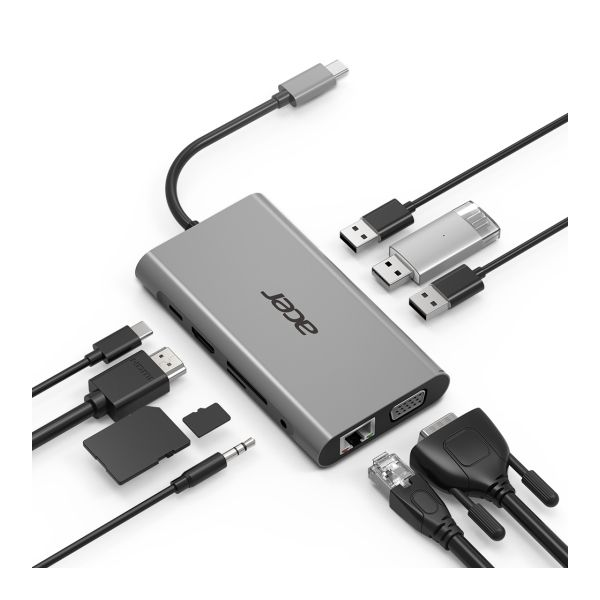 Acer Adaptador Hub 10in1 Type-C Dongle