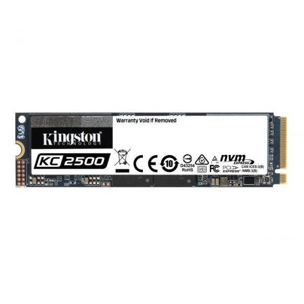 Kingston 256GB SSD M.2 2280 Kingston KC2500 3D TLC NVMe - SKC2500M8/250G