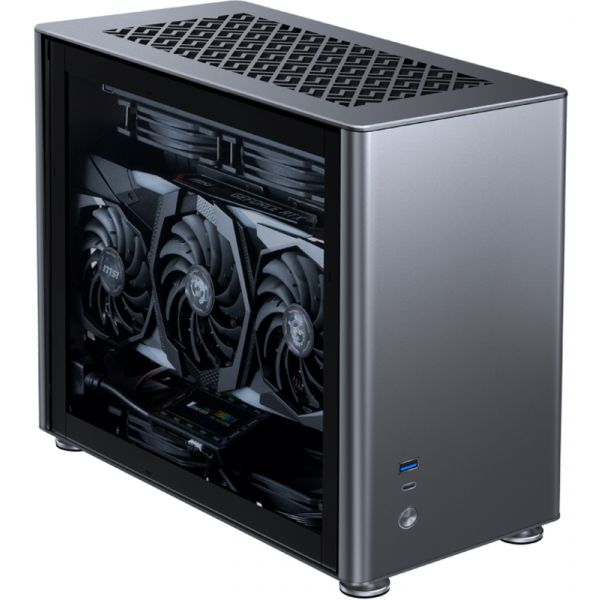 Jonsbo Caixa ITX A4 Cinzenta, Vidro Temperado - A4GREY
