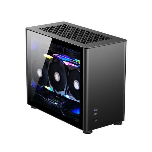 Jonsbo Caixa ITX A4 Preta, Vidro Temperado - A4BLACK