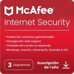 Mcafee Internet Security 3 Dispositivos 1 Ano Chave Digital - MIS00SNR3RDD