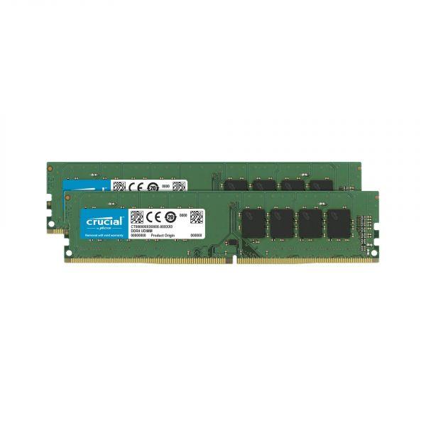Memória RAM Crucial 64GB Kit (32GBx2) DDR4 2666MT/s (PC4-21300) CL19 - CT2K32G4DFD8266