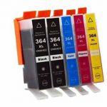Pack 5x Tinteiros Compatíveis hp 364XL V2 N9J74AE/N9J73AE G&g INK00817