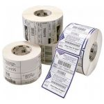 Rolo 1000x Etiquetas Termicas Brancos Perfuradas Genericas Zebra 57Mm X 32Mm 800262-125/3006318/8804 - ETQ00017