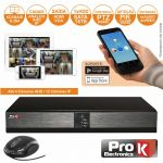ProK Electronics Vídeo-gravador Digital 4 Canais 5in1 Ethernet Hdmi - DVR04UK