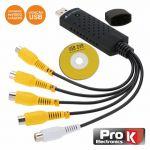 ProK Electronics Adaptador Usb/vídeo 4 Entradas Vídeo/1 Áudio - PK-USBDVR4IN