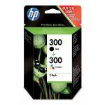 HP 300 Black/Tricolor CN637EE - Pack 2