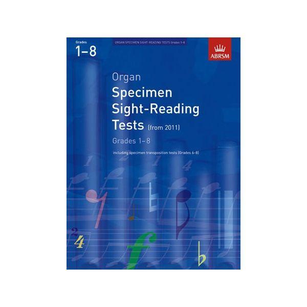Abrsm Livro Organ Specimen Sight-reading Tests: From 2011 (grades 1-8)