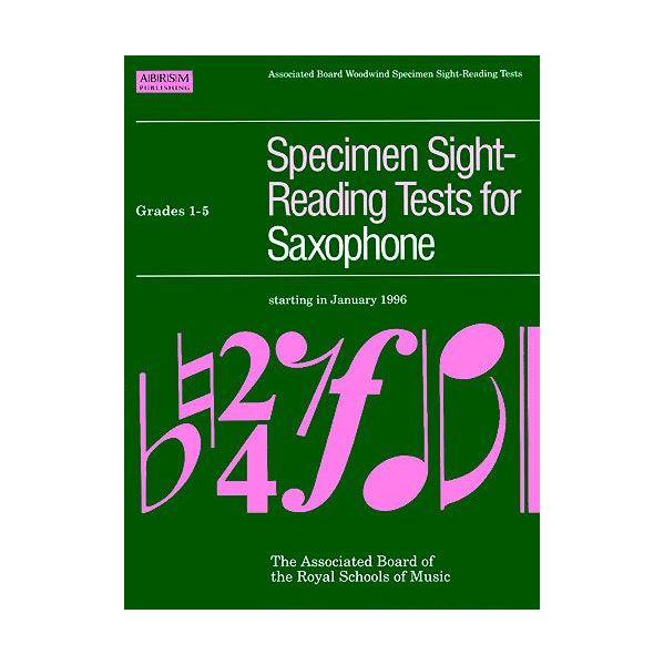 Abrsm Livro Specimen Sight-reading Tests for Saxophone - Grades 1-5