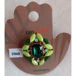 Anel Pedras Verde - Hipoalernégico - Tamanho Regulável - 346987