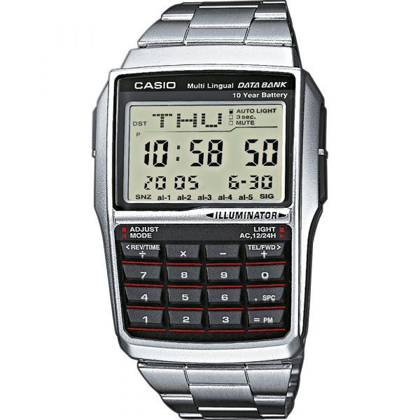 Casio Relógio Databank Calculator Plastic / Resin Silver - DBC-32D-1AES