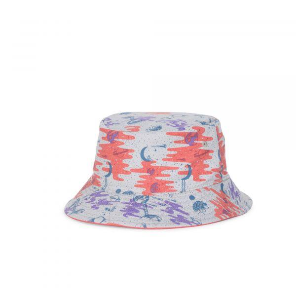 Herschel Chapéu Jr Lake Bucket Youth Coral/Space Explorers Girls - 1035-0268-OS