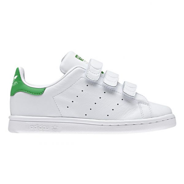 ADIDAS STAN SMITH C a JR a WHITE & GREEN