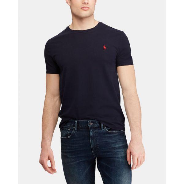 Ralph Shirt Ink M Navy Bsr Lauren Fit T Polo Custom Slim Cotton hQrdts