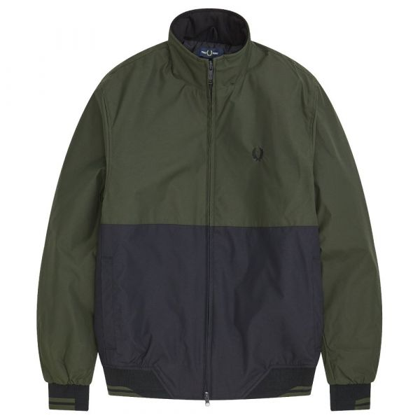 Fred Perry Casaco Colour Block Brentham Hunting Green M - FRP-I19-CSC-J7506-408_116986