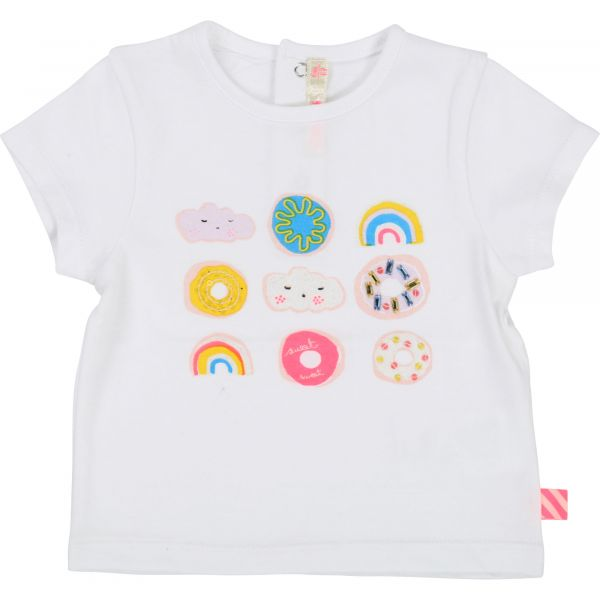 Billie Blush T-Shirt Branco 12m (CWFU05289)