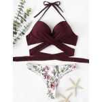 Biquíni Push Up Cruzamento Xl Bordeaux