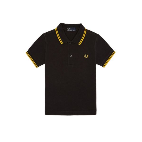 Fred Perry Kids Polo Twin Tipped SY3600-506 Black/New Yellow 7/8