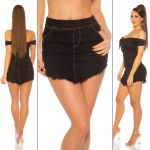 In-StyleFashion Mini Saia Preta de Ganga Sexy Xl/xxl Preto - 0000ENJUPE-11_2303