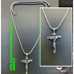 Fio Em Aço Com Crucifixo Para Homem Cod. H44 - 2006955142800