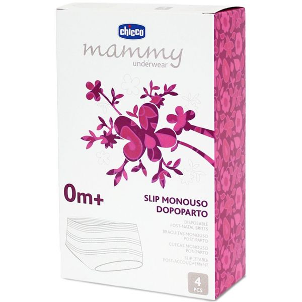 Chicco Mammy Cuecas Monouso Pós-Parto Rede Elástica 4 Unidades