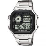 Casio Relógio Prateado/Preto - AE-1200WHD-1A