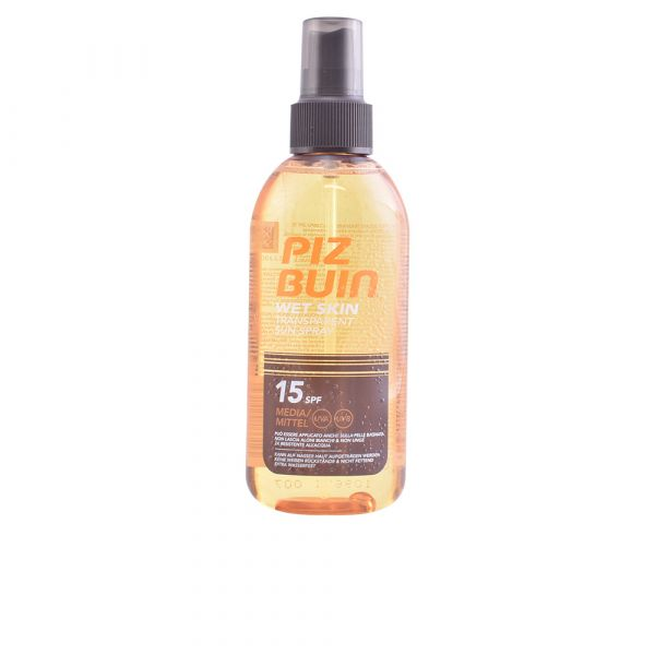 Protetor Solar Spray Piz Buin Wet Skin Transparent Sun SPF15 150ml