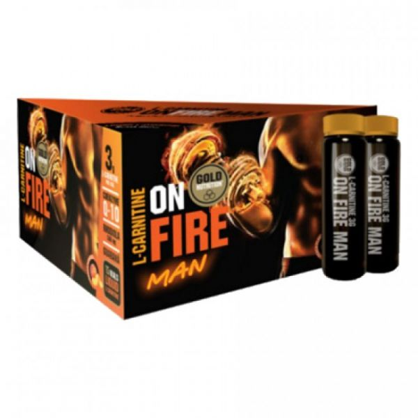 Gold Nutrition L-Carnitine On Fire Man 3000mg 15 ampolas