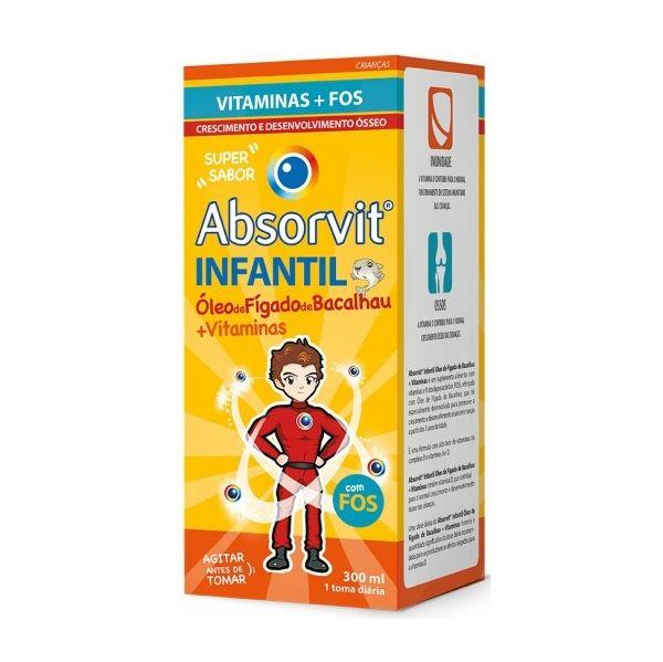 Farmodietica Absorvit Infantil Óleo de Fígado de Bacalhau 300ml