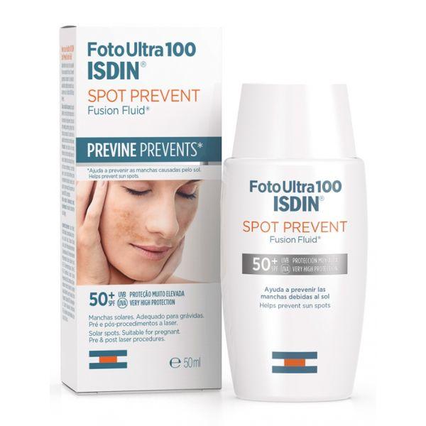 Protetor Solar Isdin Fotoultra 100 Spot Prevent Fusion Fluid SPF50+ 50ml