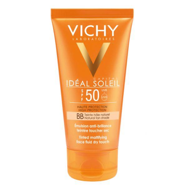 Protetor Solar Vichy Idéal Soleil BB Creme Toque Seco SPF50 50ml