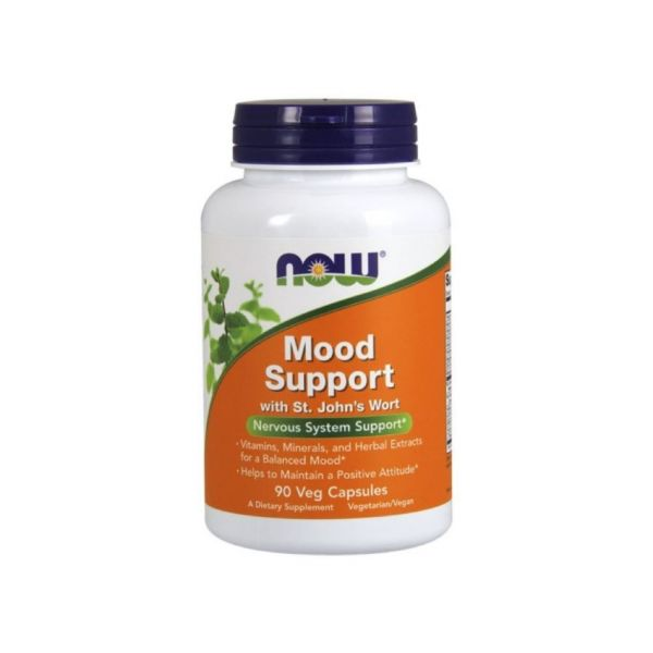 Now Mood Support with St Johns Wort 450mg 90 cápsulas vegetais