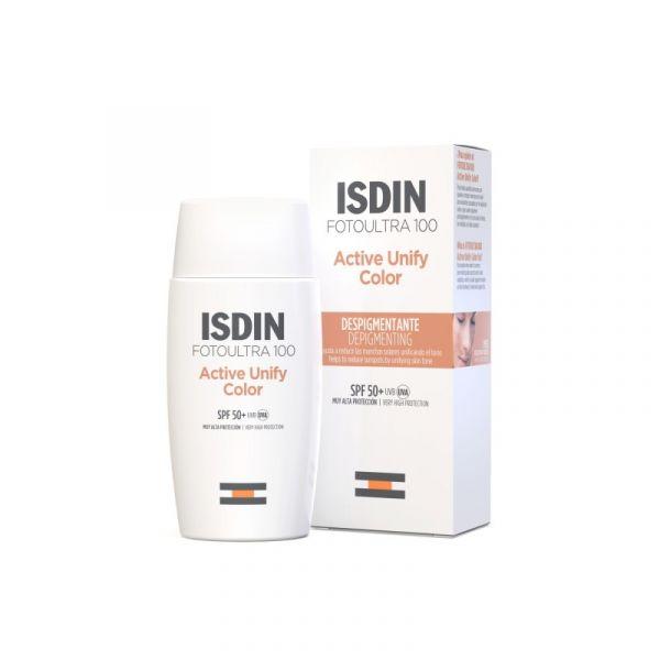 Protetor Solar ISDIN FotoUltra 100 Protetir com Cor SPF50+ 50ml