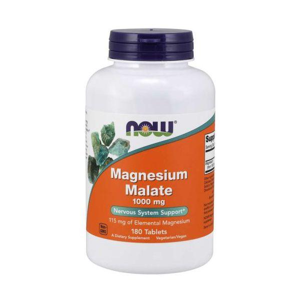 Now Magnésio Malate 1000mg 180 Comprimidos