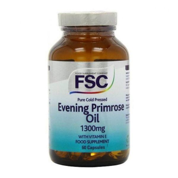FSC Evening Primrose Oil 1300mg + Vitamina E 60 cápsulas