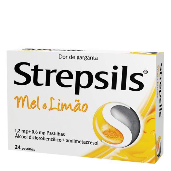 Strepsils Mel e Limão 0,6/1,2mg 24 pastilhas