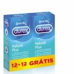 Durex Preservativos Natural Plus 12 unidades + 12 oferta
