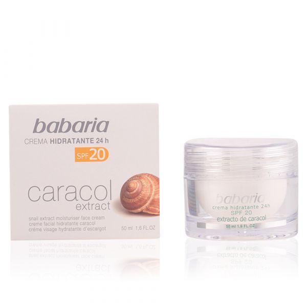Babaria Creme de Rosto Extrato Caracol Hidratante 24h SPF20 50ml