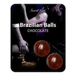 Secret Play Bolas Explosivas Brazilian Balls Chocolate x2