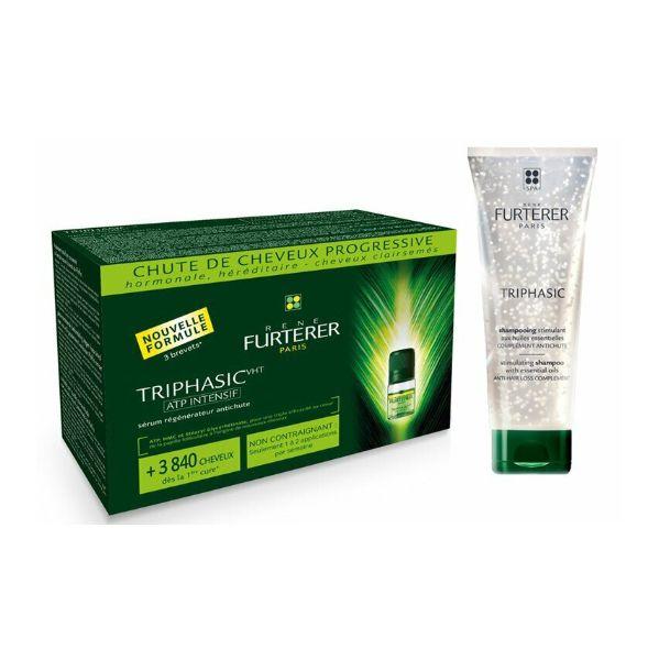 René Furterer Triphasic ATP Intensif 8 Ampolas+ Triphasic Shampoo Antiqueda 200ml