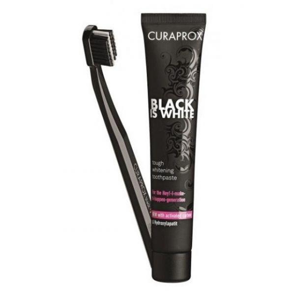 Curaprox Pack Pasta Dentífrica Black Is White 90ml + Escova de Dentes