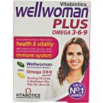 Vitabiotics Wellwoman Plus 3-6-9 28 comprimidos + 28 cápsulas
