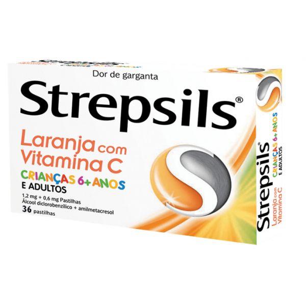 Strepsils Laranja com Vitamina C 0,6/1,2mg 36 pastilhas