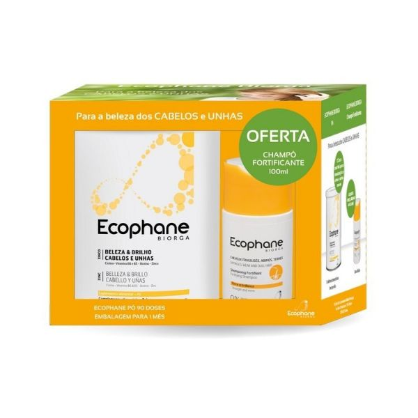 Ecophane Biorga Pack Pó 318g + Shampoo Fortificante 100ml