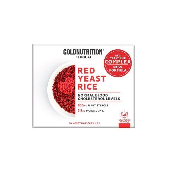 Gold Nutrition Red Yeast Rice c/ Coenzima Q-10 60 cápsulas