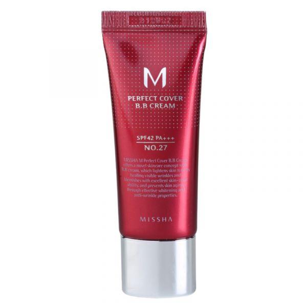 Missha M Perfect Cover BB Creme Tom No. 27 Honey Beige SPF42 20ml